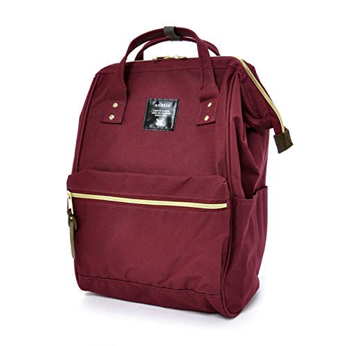 Anello Official Ruby Red Japan Fashion Shoulder Rucksack Backpack Hand Carry Tablet Diaper Bag Unisex