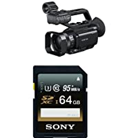 Sony PXWX70 HD422 Hand Held Camcorder with 3.5-Inch LCD (Black) with Memory Card