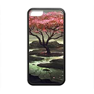 XiFu*MeiPink Artistic Tree Black Phone Case for ipod touch 4XiFu*Mei
