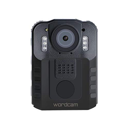 Wordcam Body Worn Camera Portable Video Recorder for Police Law Enforcement,Night Vision Security DVR 120 Degree Lens,with 32GB External Removable Memory Card (Black)