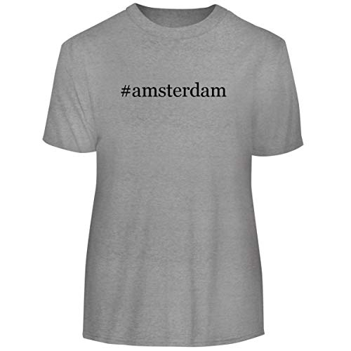 One Legging it Around #Amsterdam - Hashtag Men's Funny Soft Adult Tee T-Shirt, Heather, - Gin Amsterdam New