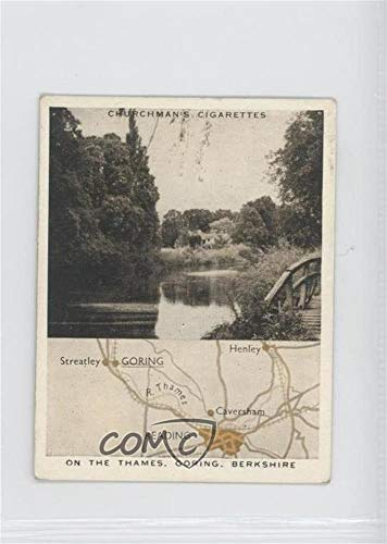 Imperial Berkshire - On the Thames, Goring, Berkshire Ungraded COMC Good to VG-EX (Trading Card) 1937 Churchman's Holidays in Britain Map & Scene - Tobacco [Base] #12