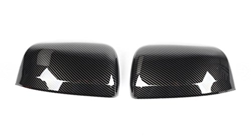 FMtoppeak Carbon Fiber Exterior Accessaries Review Mirror Covers Trim Decoration ABS for Jeep Grand Cherokee 2011-2016