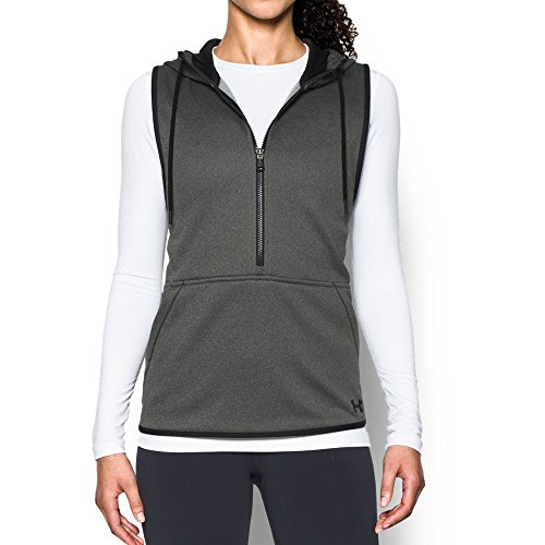 Under Armour Women's Storm Lightweight Armour Fleece Vest, Carbon Heather/Black, X-Large