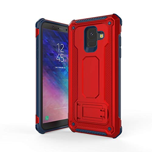 AICEDA Samsung Galaxy A6 2018 Clear Case Ultra Thin Anti-Slip TPU Cover Protective case Accessories for Series Samsung Galaxy A6 2018 (Blue+Red) -