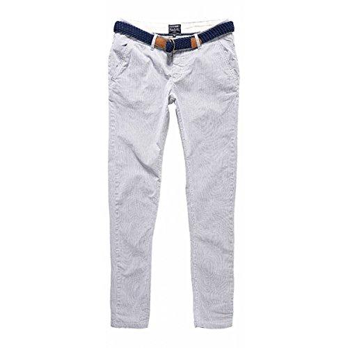Navy Chino Riviera Sweet ecru Superdry Pantalon Bleu shrtCQdx