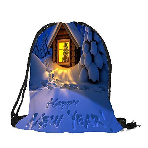✈ HYIRI Merry Christmas Candy Bag Satchel Rucksack Bundle Pocket High Capacity Storage Bag ()