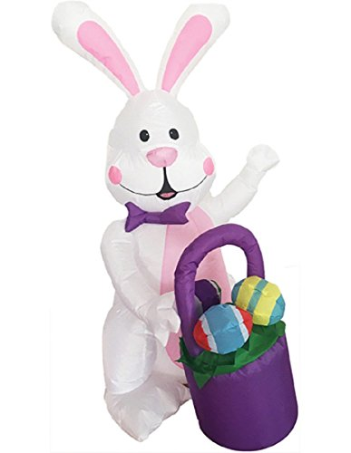 Morris Inflatable Bunny with Basket -
