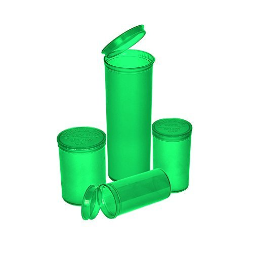 Philips Rx Translucent Green Colored Pop Top Bottle 19 Dram (2 Boxes - 225 Containers per Box) - MJ-PPVG19