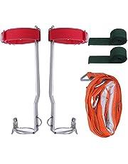 RZH Cinturón de Seguridad Profesional, para Deportes al Aire Libre de Acero Inoxidable Garra de Árbol de Escalada Cinturón de Seguridad Cuerdas de Seguridad Trepando Árboles Que Trabajan en Alto