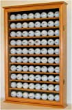 80 Golf Ball Display Case Cabinet Holder, novelty gift, OAK FINISH (GB80-OA), Outdoor Stuffs