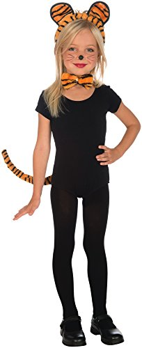 [Plush Tiger Child Costume Kit] (Tiger Costumes Girls)