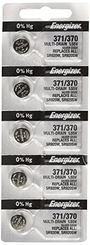 Energizer 371 or 370 Button Cell Silver Oxide SR920SW Watch Batteries