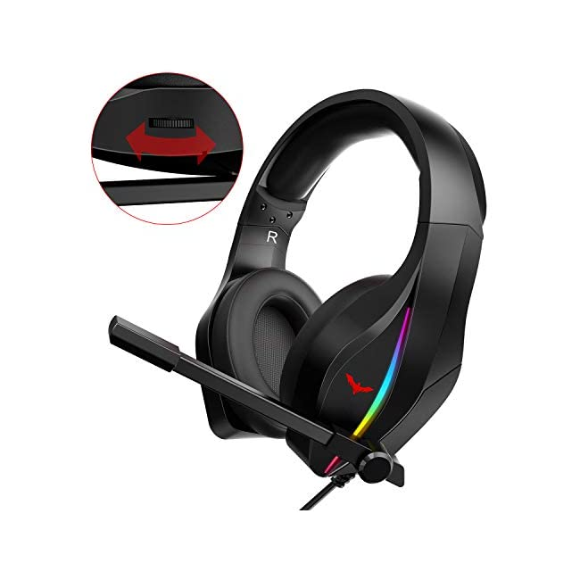 HAVIT Mechanical Keyboard Mouse Headset Kit  Blue Switch Keyboards Gaming Mouse & RGB Headphones for Laptop Computer PC Games