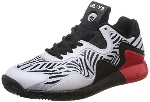 adidas Adizero Y3 2016 W, Zapatillas de Tenis para Mujer Negro / Blanco (Negbas / Ftwbla / Ftwbla)