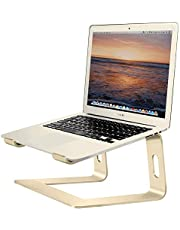 Soundance Aluminum Laptop Stand for Desk Compatible with Mac MacBook Pro Air Apple Notebook, Portable Holder Ergonomic Elevator Metal Riser for 10 to 15.6 inch PC Desktop Computer, LS1