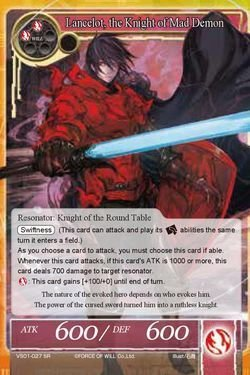Force Of Will Knights Of The Round Table.Amazon Com Force Of Will X1 Card Lancelot The Knight Of Mad