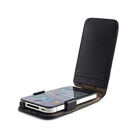 f64db9bf9 Ted Baker iPhone 4   4S Case - Leather Style - Swallows - Black   Blue   Amazon.co.uk  Electronics