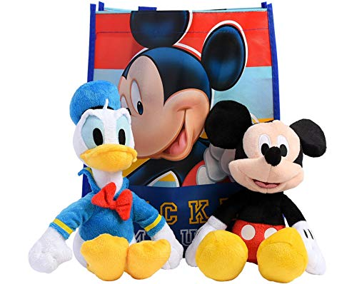 """Disney 11"""" Plush Mickey Mouse 2-Pack in Gift Bag (Mickey & Donald Duck)"""