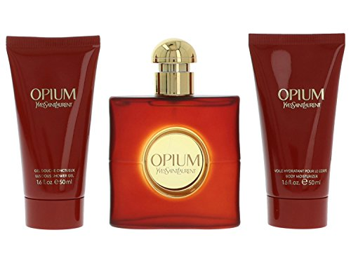 Yves Saint Laurent Opium Eau De Toilette Spray 50ml 3-Piece - Yves Saint Opium By Laurent Gel Shower