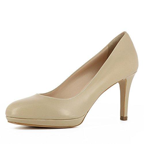 Donna Tacco Beige Col Shoes Scarpe Bianca Evita nYpzIqxXnS