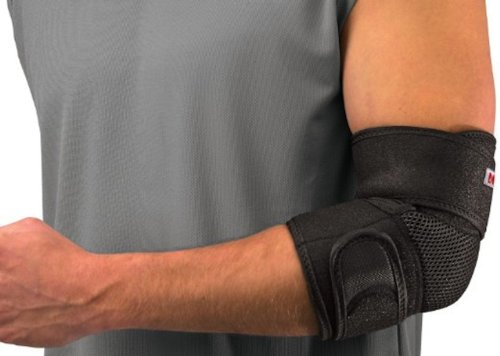 Mueller Adjustable Elbow Support, Black, One Size Fits Most (Packaging May Vary) (Mueller Elbow Support)