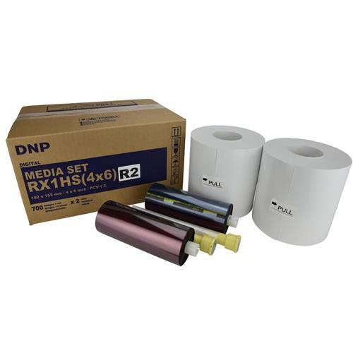 DNP DS-RX1HS Perforated Printer Media, 4x6 Roll, 2