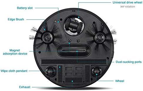 Robot Intelligent Automatique Aspirateur Vadrouille Balayage Aspiration sans Fil Auto Poussière Balayeuse Machine pour Le Nettoyage À Domicile, Rouge
