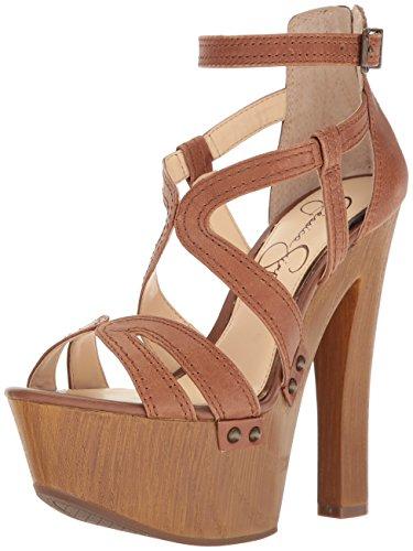 Jessica Simpson Women's Dorrin Heeled Sandal, Burnt Umber, 8.5 Medium (Jessica High Heel Sandals)