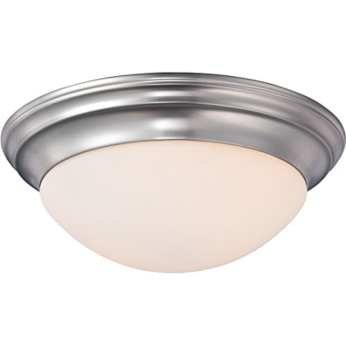 Quoizel SMT1614BN Summit Flush Mount Ceiling Lighting, 2-Light, 150 Watts, Brushed Nickel (6