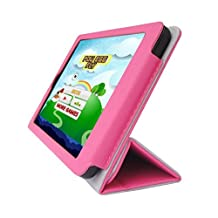 "iShoppingdeals - for Acer Iconia One 7"" (Model B1-730 Only) Folding Folio Skin Cover Case, Tulip Pink"