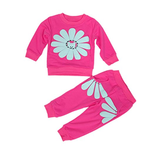FEITONG 1Set Autumn Infant Toddler Baby Girls' Sunflower Shirt+ Pants Costume Clothes (2-3 Years, Hot (Hot Dollar Costumes)