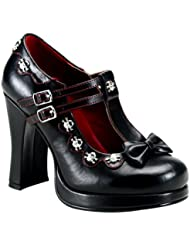 Summitfashions 4 Inch Womens Gothic Shoes Studs Bow Pump Mary Janes Chunky Heel
