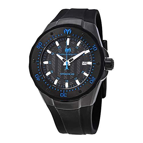 Technomarine Men's TM-215089 Manta Analog Display Automatic Self Wind Black Watch