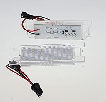 Luz de matrícula LED para Astra H + J, Corsa D, Zafira B, Insignia: Amazon.es: Coche y moto