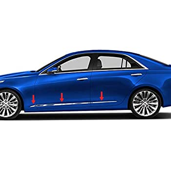 Cadillac CTS SEDAN 2014 2015 2016 2017 ONLY Chrome BODY SIDE MOLDING ACCENT TRIM