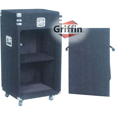 25U Rack Mount Studio Mixer Cabinet Road Flight Case Stand Cart DJ PA Stage Rackmount Music Gear by Griffin