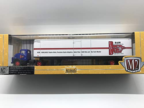 M2 Machines Auto-Haulers Premium Edition 1957 Dodge COE & B&M Trailer R11 14-05 Blue/White Details Like NO Other! Over 42 Parts, Limited 1 of 5000 Worldwide ()