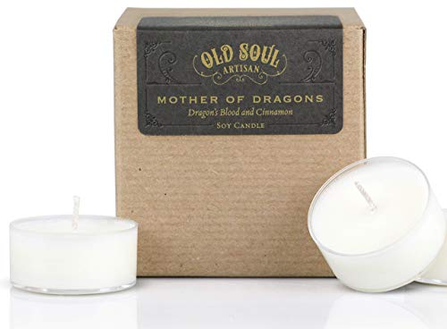 (Mother of Dragons - Dragons Blood and Cinnamon Tea Light Candles Bookish Book Lover Fantasy Gift)