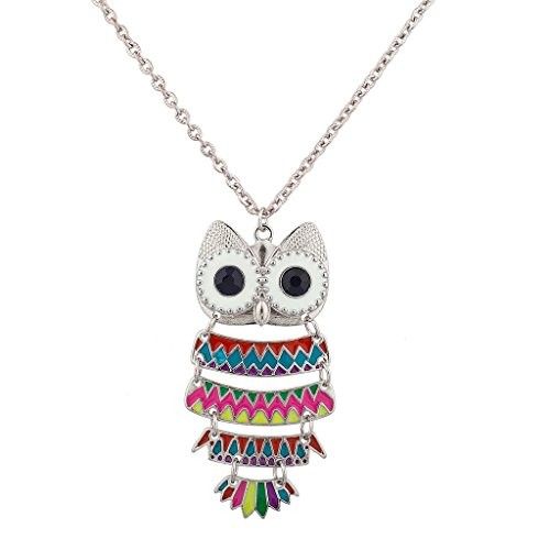 lux-accessories-multicolor-owl-animal-charm-necklace