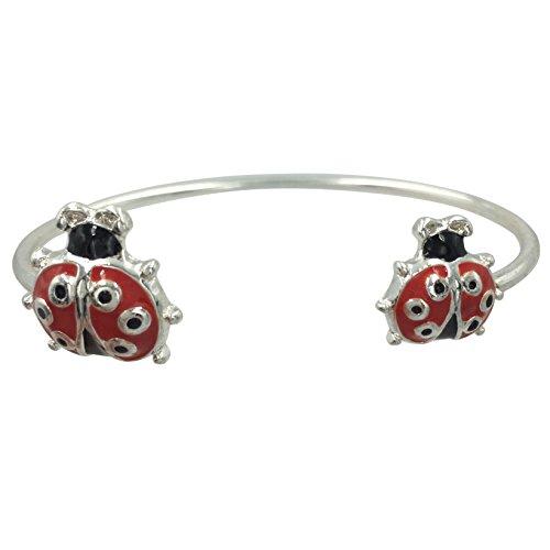 Gypsy Jewels Simple Theme Cuff Bracelet (Red & Black Ladybug)