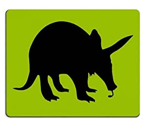 Animal Aardvark Silhouette Green Black Flat Outline Shadow Mouse Pads Customized Made to Order Support Ready 9 7/8 Inch (250mm) X 7 7/8 Inch (200mm) X 1/16 Inch (2mm) High Quality Eco Friendly Cloth with Neoprene Rubber Luxlady Mouse Pad Desktop Mousepad Laptop Mousepads Comfortable Computer Mouse Mat Cute Gaming Mouse pad