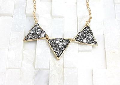 geometric necklace three triangles