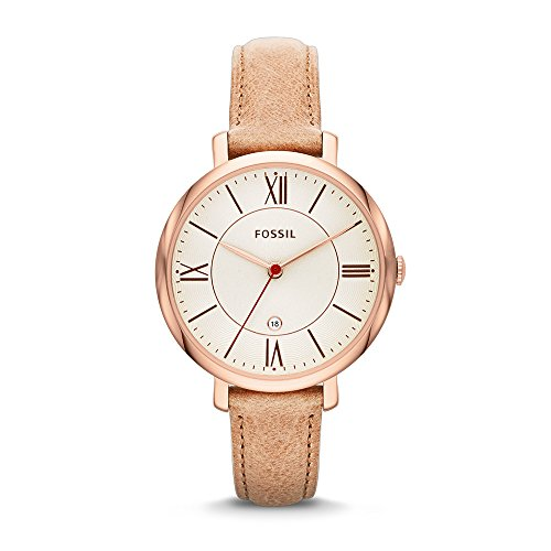 Fossil Women's ES3487 Jacqueline Three Hand Leather Watch - Camel