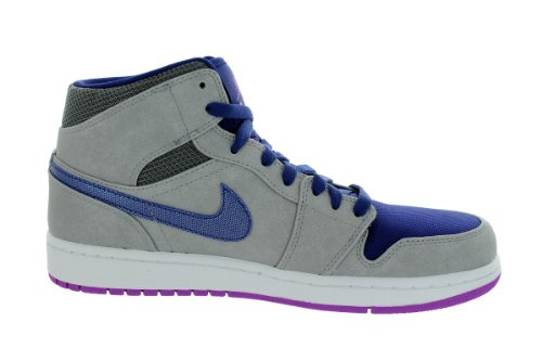 Baskets Nike Air Jordan 1 Jordan Mid Gris 554724008