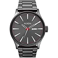 Nixon Sentry SS 42mm Gunmetal Stainless Steel Mens Watch A356-131