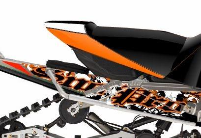 (Arctic Cat Snowmobile Cat Wraps Annihilator Orange Tunnel)