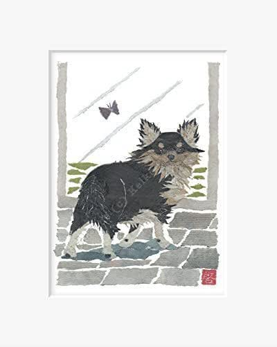 Amazon.com: Long Haired Chihuahua Art Matted Print for 8 x