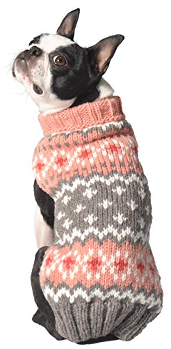 Chilly Dog Rose Fair isle Sweater, Large