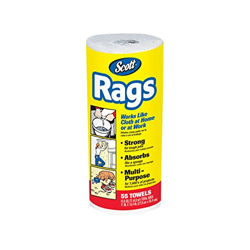 Scott Products 75230 White Scott Rags 55 Count